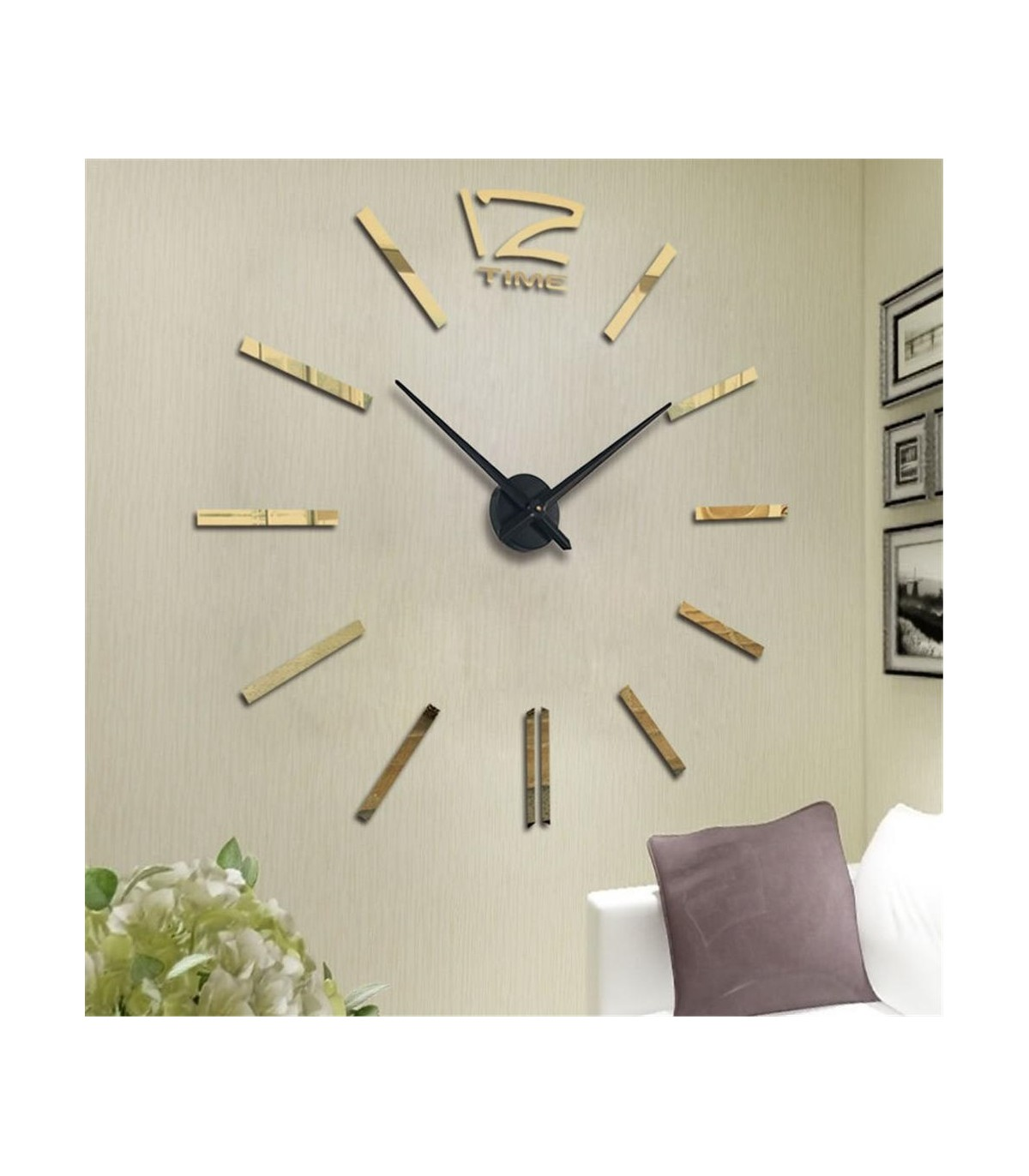 Gold Decor Diy 3d Mirror Wall Clock